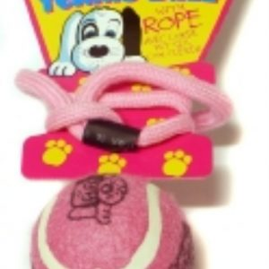 PET BRANDS TENNIS BALL ON A ROPE