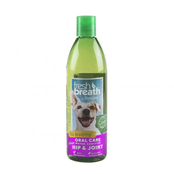 TropiClean Fresh Breath Oral Care Water Additive Plus Hip and Joint for Dogs