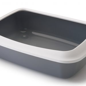 SAVIC IRIZ CAT LITTER TRAY +RIM COLD GRAY