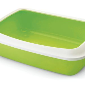 SAVIC IRIZ CAT LITTER TRAY +RIM LEMON GREEN