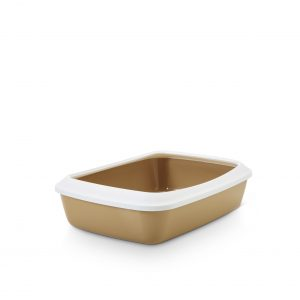 SAVIC IRIZ CAT LITTER TRAY +RIM RETRO BROWN