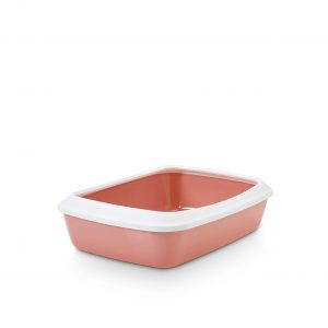 SAVIC IRIZ CAT LITTER TRAY +RIM RETRO PINK