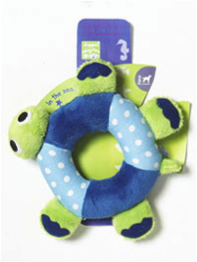 PET BRANDS CUDDLY TURTLE RING PLUSH