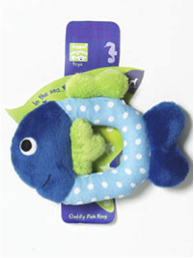 PET BRANDS CUDDLY FISH RING PLUSH