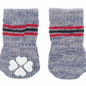 TRIXIE DOG SOCKS NON SLIP GRAY
