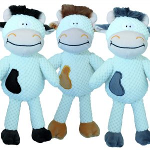 "PETSPORT TUFF PLUSH CHUCKY COW 13.5"" ASSORTED"