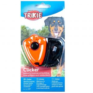 TRIXIE CLICKER WITH SPIRAL WRIST LOOP