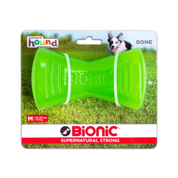 Outward Hound Bionic Opaque Bone Dog Chew Toy medium