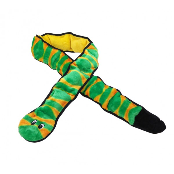 OUTWARD HOUND INVINCIBLE MINI SNAKE SQUEAKING TOY 3 SQUEAKS