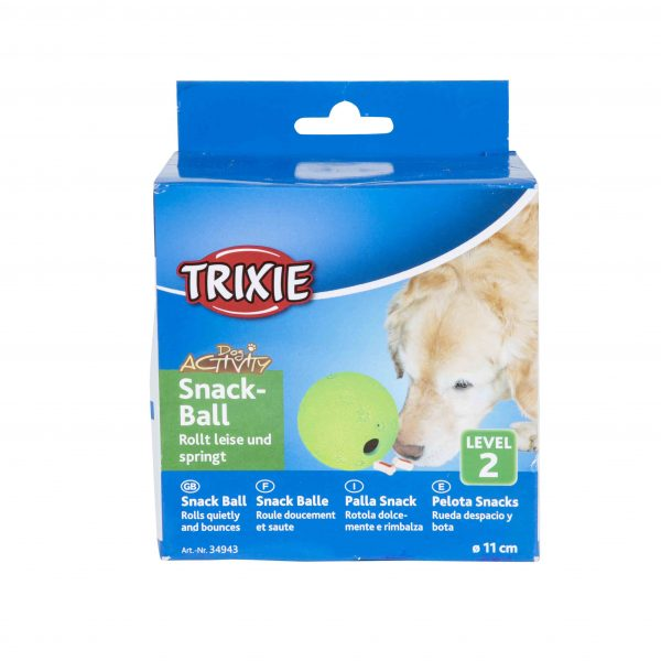 TRIXIE SNACK BALL INTERACTIVE TOY, NATURAL RUBBER