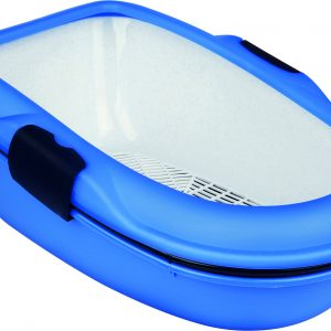 TRIXIE BERTO LITTER TRAY THREE PART WITH SEPERATING SYSTEM BLUE