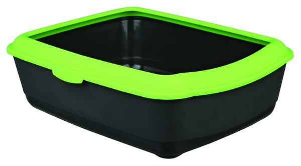 TRIXIE CLASSIC CAT LITTER TRAY WITH RIM APPLE GREEN