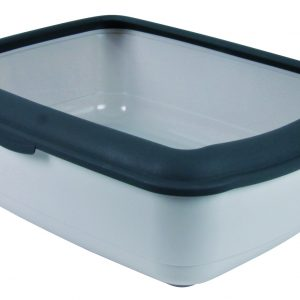 TRIXIE CLASSIC CAT LITTER TRAY WITH RIM LIGHT GREY