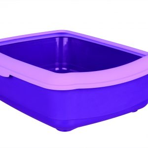 TRIXIE CLASSIC CAT LITTER TRAY WITH RIM PURPLE