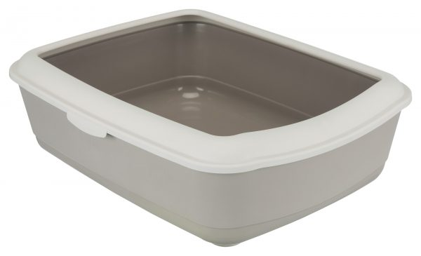 TRIXIE CLASSIC CAT LITTER TRAY WITH RIM BROWN