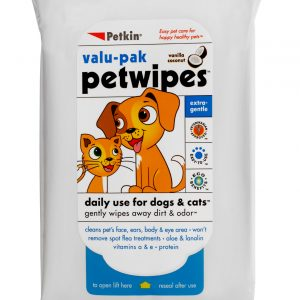 PETKIN PET WIPES VALU - PAK 40 WIPES