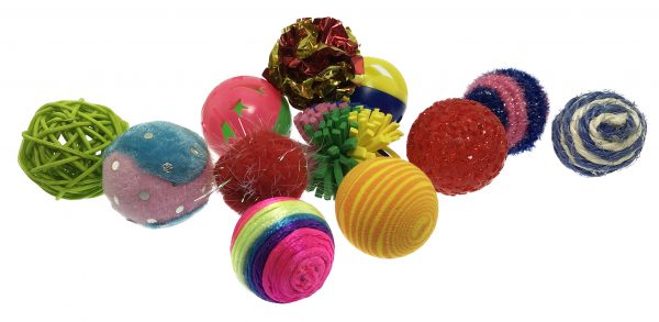 PETSPORT KITTY FUN BALLS ASSORTED