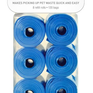 OUT! WASTE PICK UP BAG REFILL 120 BAGS, GREEN