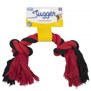 PET BRANDS MULTI COLOURED BONE TUGGER LARGE