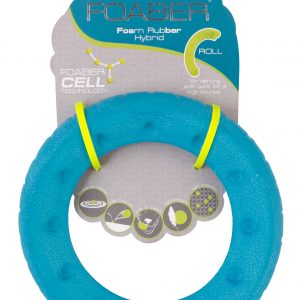 PET BRANDS FOABER ROLL RINGS FOAM RUBBER HYBRID TOY BLUE