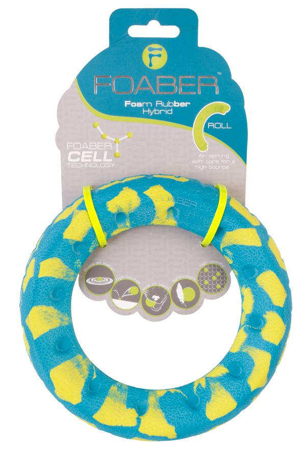 PET BRANDS FOABER ROLL RINGS FOAM RUBBER HYBRID TOY, MIXED