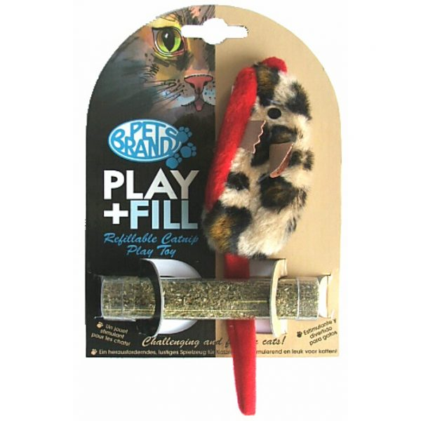 PET BRANDS PLAY + FILL REFILLABLE CAT TOY