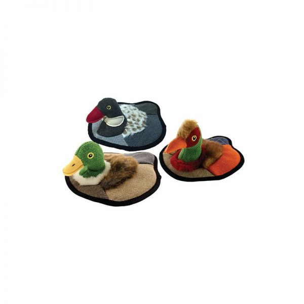 "PETSPORT TUFF PLUSH DUCK DECOY 9"" ASSORTED"